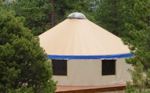 One of the new yurts
