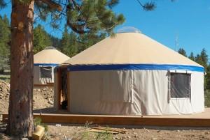 The new yurt village