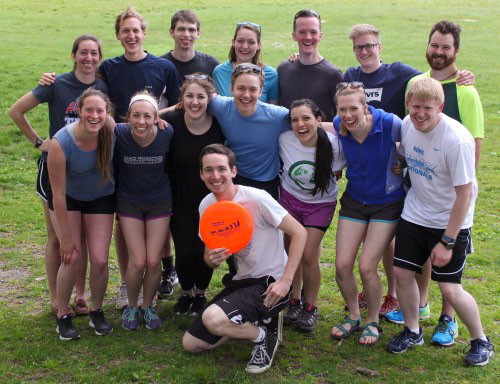DiscoveryBound Outreach's New England Affinity Group enjoyed Ultimate Frisbee earlier this year.