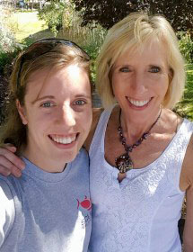 Laurie (right) with her daughter, Brittany