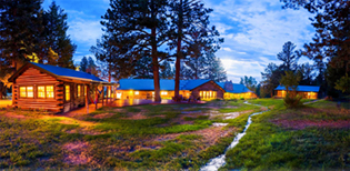 Cabins available at the A/U Ranches when you book your event