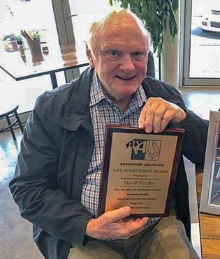 David Fletcher, receiving his Lifetime Achievement Award