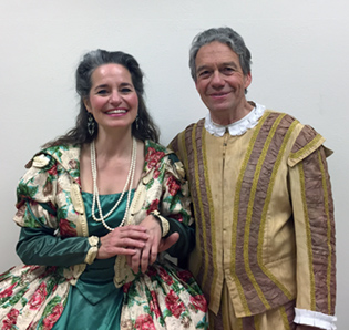 David Summerfield and Stacy AuCoin as nobles in Puccini's Gianni Schicchi