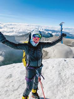 Annie Hughes on Cotopaxi volcano in Ecador